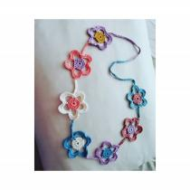 Kharynel Creation - Collier fleurs en crochet - Collier - Coton