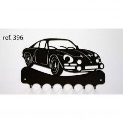 KISSKISSMETAL - Accroche clefs en metal 26 cm motif: Alpine Renault A110 (Berlinette) - Accroche-clef