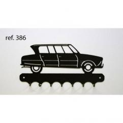 KISSKISSMETAL - Accroche clefs en metal 26 cm motif: AMI 6 Citroën - Accroche-clef