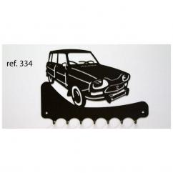 KISSKISSMETAL - Accroche clefs en metal 26 cm motif: AMI 8 break Citroën - Accroche-clef