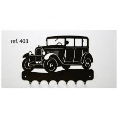 KISSKISSMETAL - Accroche clefs en metal 26 cm motif: C4A Citroën - Accroche-clef