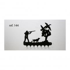 KISSKISSMETAL - Accroche clefs en metal 26 cm motif: chasseur aux canards - Accroche-clef