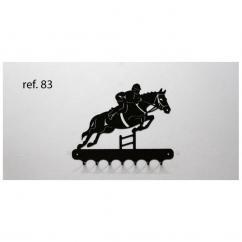 KISSKISSMETAL - Accroche clefs en metal 26 cm motif: CSO, cheval à l'obstacle - Accroche-clef