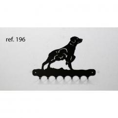 KISSKISSMETAL - Accroche clefs en metal 26 cm motif: épagneul breton - Accroche-clef