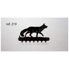 KISSKISSMETAL - Accroche clefs en metal 26 cm motif: renard - Accroche-clef
