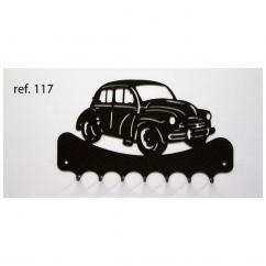 KISSKISSMETAL - Accroche clefs en metal 26 cm motif: Renault 4CV - Accroche-clef