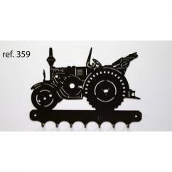 KISSKISSMETAL - Accroche clefs en metal 26 cm motif: tracteur LANZ routier - Accroche-clef