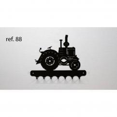 KISSKISSMETAL - Accroche clefs en metal 26 cm motif: tracteur VIERZON - Accroche-clef
