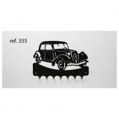 KISSKISSMETAL - Accroche clefs en metal 26 cm motif: traction avant Citroën - Accroche-clef