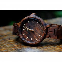KRISTAN TIME - Montre bois gravé montre femme - Montre
