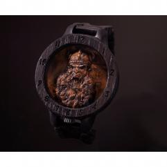 KRISTAN TIME - Viking armure montre en bois Viking - Montre