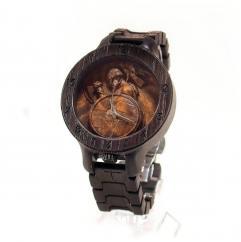 KRISTAN TIME - Vikings armure montre en bois - Montre