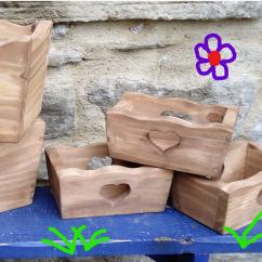 L'atelier de Vany - Jardinière rectangle petit format - Pot, bac, jardinière - Beige