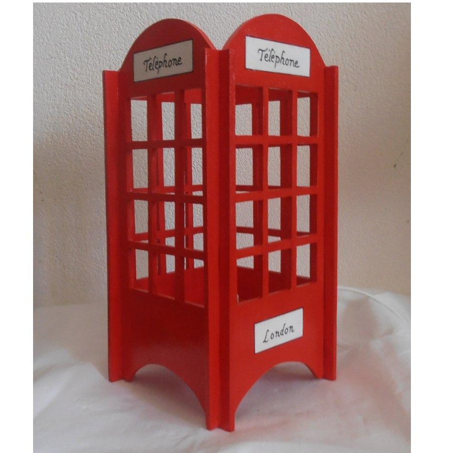 Chevet Bois Cabine Blanc Londres Téléphone Lampe De Rouge London Et PlOXiwTukZ