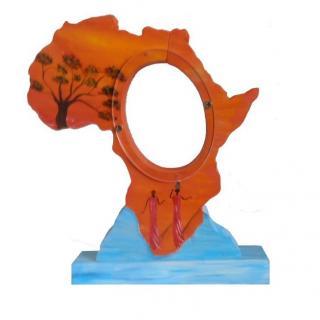 L'éveil du bois - TIRELIRE CARTE D'AFRIQUE - tirelire