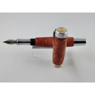La boutique artisanale - Stylo plume de luxe en loupe de Mallee Rouge - Stylo plume