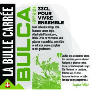 La Bulle Carrée - Bulca - Bière - Blonde Houblonnée - Bouteille - 0.33L