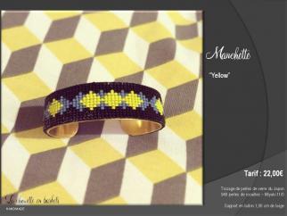La Chouette en Baskets - Manchette  - Yellow - Manchette
