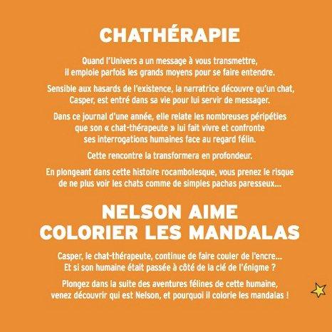 La Fée Crochette - Chathérapie & Nelson aime colorier les mandalas - Livre - 12 ans et plus