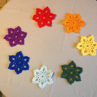 La Fée Crochette - Lot de 7 sous-verres STAR-6 chakra - Sous-bock