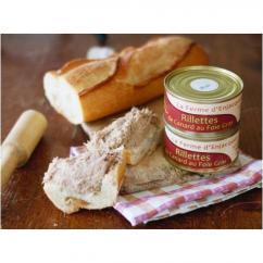 La Ferme d'Enjacquet - Rillettes de canard au foie gras - Rillettes - 200 gr