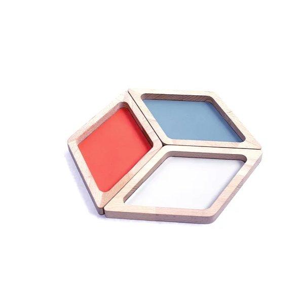La-Ma-Dé - Vide-pochesLom-Ri (x3) Bleu/Gris/Corail - vide-poches