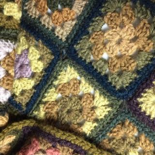 La petite fabrique toulousaine - écharpe pure laine au crochet - Echarpe - Vert