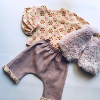 La petite fabrique toulousaine - Ensemble lin et coton 6-9 mois (copie) - vetements enfants