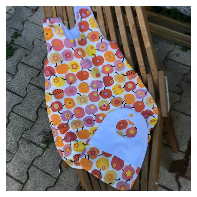 La petite fabrique toulousaine - Gigoteuse d'été et son bavoir assorti - Accessoires de mode (enfant)
