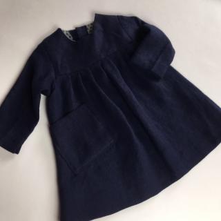 La petite fabrique toulousaine - Robe en lin lavé 12-18 mois (copie) - vetements enfants