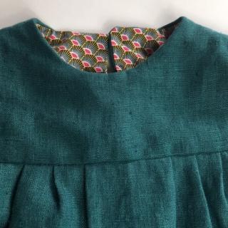 La petite fabrique toulousaine - Robe en lin lavé 12-24 mois - vetements enfants