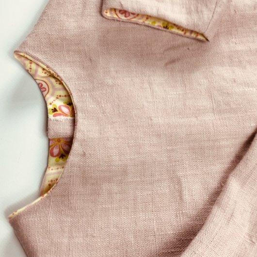 La petite fabrique toulousaine - Robe en lin lavé  3-4 ans - vetements enfants