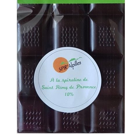 La spiruline des Alpilles - Chocolat à la spiruline - Chocolat