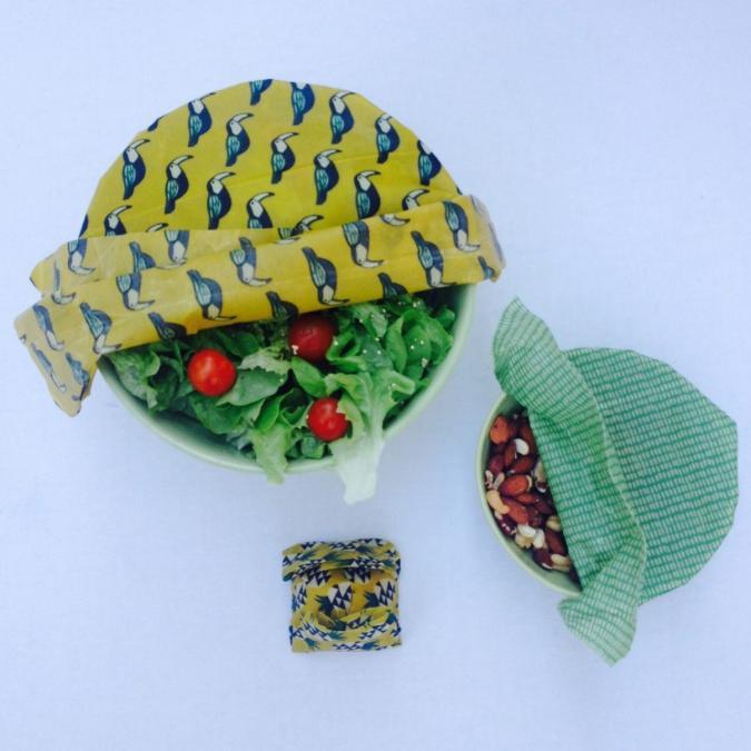 L'abeille qui emballe - LE PACK DÉCOUVERTE: 3 WRAPS INDISPENSABLES DANS VOTRE CUISINE - Emballage réutilisable