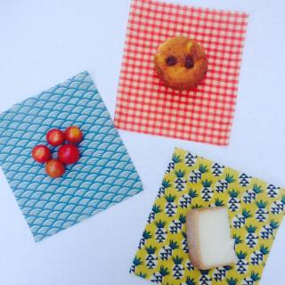L'abeille qui emballe - LE PACK FRUITÉ: 6 WRAPS TAILLE SMALL - Emballage réutilisable