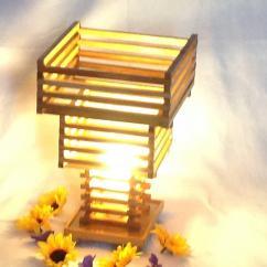 La boite à kdo - Lampe d'ambiance en bois - Lampe de table - ampoule(s)