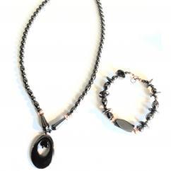 La boite à kdo - Parure de Bijoux en Hématite - parure de bijoux