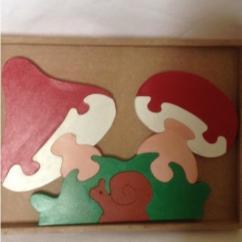 La boite à kdo - Puzzle en bois - jouet en bois