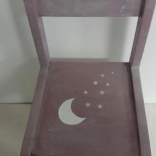 La cabane-a-deko - Chaise Pierrot de la Lune - chaise d'enfant