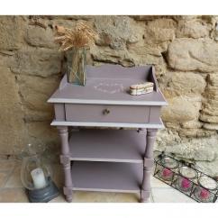 La cabane-a-deko - Table d'appoint romantique - Table de chevet