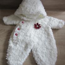 """La CHOUette Boutique BB - Combinaison bébé """"Ours Polaire""""  taille naissance - Combinaison pilote (bébé) - blanc"""