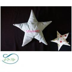 La Fée Milie - Coussin étoile - Coussin - blanc