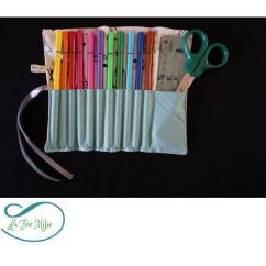 La Fée Milie - Pochette crayon tissu tepee - Pochette à crayon