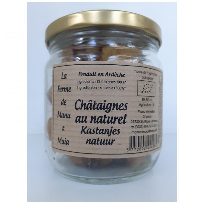 La ferme de Manu et Maia - Châtaignes au naturel BIO - Fruits en conserve - 0.024