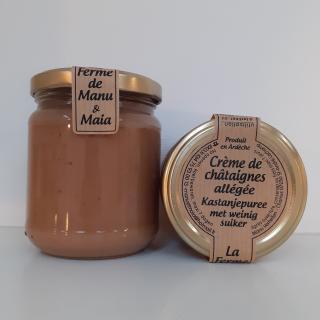 La ferme de Manu et Maia - Crème de châtaignes BIO allégée - Confiture Artisanale