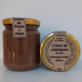 La ferme de Manu et Maia - Crème de châtaignes BIO nature - Confiture - 0.24