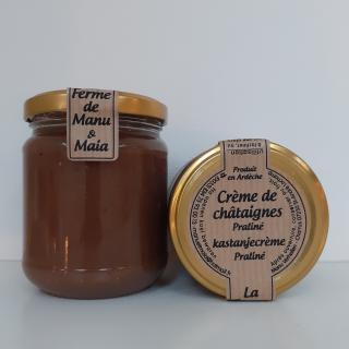 La ferme de Manu et Maia - Crème de châtaignes BIO praliné - Confiture Artisanale