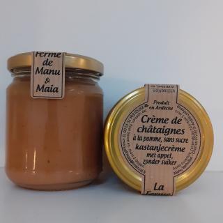 La ferme de Manu et Maia - Crème de châtaignes BIO sans sucre, à la pomme - Fruit