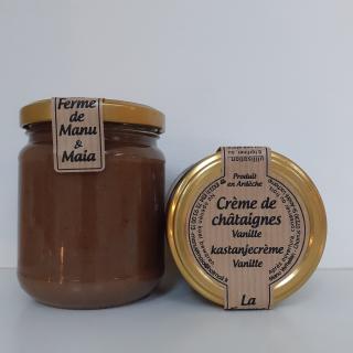 La ferme de Manu et Maia - Crème de châtaignes BIO vanille - Confiture Artisanale