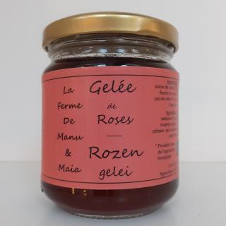 La ferme de Manu et Maia - Gelée de roses BIO - Confiture Artisanale
